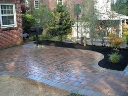 Diy Patio With Pavers Patio Ideas Backyard Paver Patio Connected To A Concrete Slab