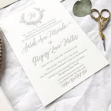 Wedding Invitations Long Island Sarah And Greg U0027s Magnolia Wedding Invitations Wedding Monogram