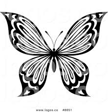 butterfly black and white clipart free best butterfly