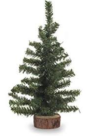darice artificial pine tree on wood base 24