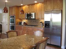 kitchens with stone backsplash decor impressive brown costco granite countertop kitchen island