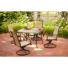 5 piece patio table and chairs hton bay altamira 5 piece patio dining set d9976 5pcd at