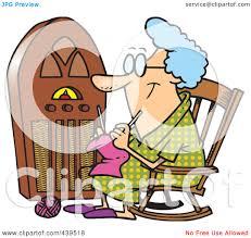 Grandma In Rocking Chair Clipart Royalty Free Rf Clip Art Illustration Of A Cartoon Granny