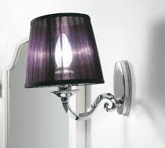 miroir avec applique applique murale classique de salle de bain en métal pour
