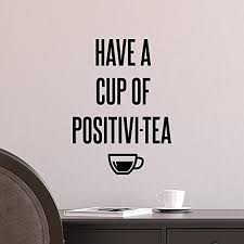 amazon com quote decal letter wall decal have a cup of