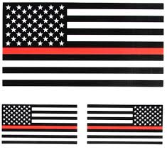 Red White Black Flag Thin Red Line Black And White American Flag Sticker For Fire