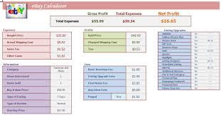 Ebay Excel Template Ebay Calculator Excel Spreadsheet Profit Analysis