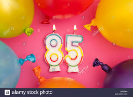 candle balloon happy birthday number 85 celebration candle with colorful balloons