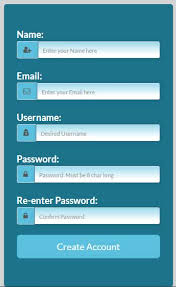 free bootstrap registration create account form 3 code snippets