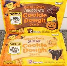 using nestle toll house rolled ready cookie sheets for