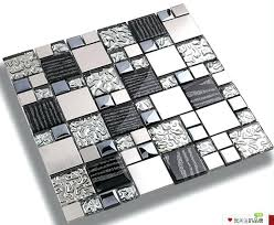 glass tile kitchen backsplashes pictures metal and white wall tile for kitchen backsplash silver metal mosaic stainless steel