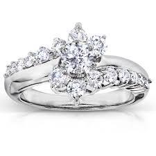 1 carat engagement rings brilliant cluster diamond engagement ring 1 carat ctw in 14k