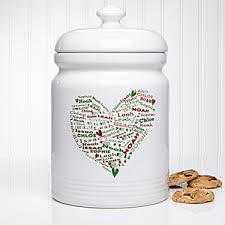 personalized christmas cookie jar her heart of love