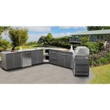 aluminum outdoor kitchen cabinets newage products aluminum slate 4 piece 97x36x24 in outdoor kitchen