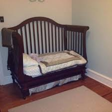 find more wendy bellisimo dark cherry wood crib for sale at up to