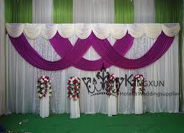 Wedding Backdrop And Stand Aliexpress Com Buy 3m 6m White And Purple Wedding Backdrop Drape
