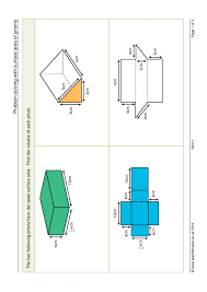 Area Of Compound Shapes Worksheet Volume And Surface Area Teachit Maths