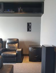 home theater in ceiling speakers earth shaking home theater with four svs pb16 ultra subwoofers
