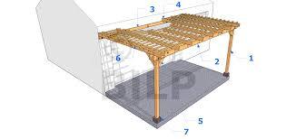 tonnelle en bambou anatomie d u0027une pergola pergolas et tonnelles à faire soi même