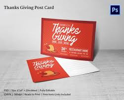 6 thanksgiving postcard templates free psd format