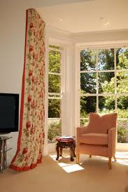 11 best bay window ideas images on pinterest window ideas bay curtains bay window track with a contrast boarder curtain has been returned to the wall