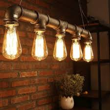 copper pipe light fixture retro dig steunk industrial vintage rustic ceiling lighting