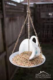 15 easy unique diy gifts for gardeners teacup bird feeders