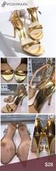 zara gold ankle strap heels zara high heeled strapped sandals in