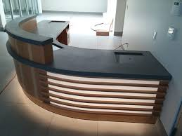 Concrete Reception Desk Gray Concrete Reception