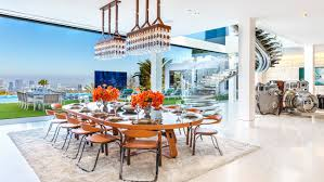 america s most expensive home 250m los angeles mansion hits the the main dining area offers views of the city and is adorned with a 2 million