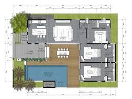 tropical villa house plans house interior