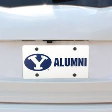 byu alumni license plate frame byu license plates