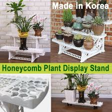multi layer plant display stand honeycomb movable indoor outdoor