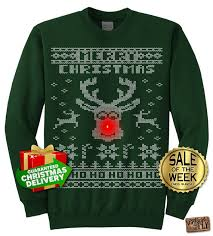 ugly christmas sweater with lights rudolph light up ugly christmas sweater party