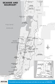 Portland Food Map by Travel Maps Of Oregon Moon Travel Guides