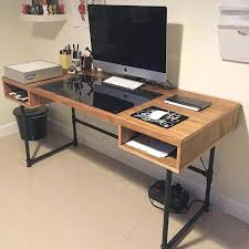 long computer desk for two long gaming desk long gaming desk custom built good to go computer