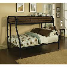 acme furniture tritan twin xl over queen metal bunk bed black