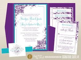 Lavender Wedding Invitations Purple And Teal Wedding Invitations Purple And Teal Wedding