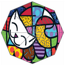 britto garden custom fashion beautiful art two happy umbrella personlized