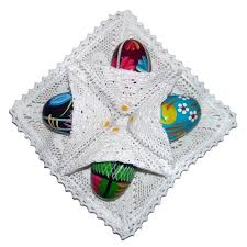 Decorating Easter Eggs With Lace by Polish Art Center Pisanki Easter Egg Display Holder And