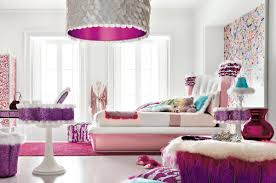 glamorous teenage girls bedroom design presenting furry furniture