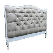 french style shabby chic upholstered headboard king size in white