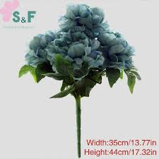 5 bouquet 14 color 5 heads silk artificial french peony wedding