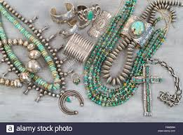 vintage turquoise silver necklace images Native american silver jewelry stock photos native american jpg