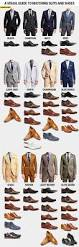 a visual guide to matching suits and shoes colors for men