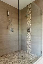 Shower Ideas For Bathroom Large Charcoal Black Pebble Tile Border Shower Accent Https Www