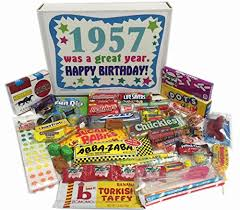 gifts for 60 year 60th birthday gift basket box of nostalgic retro candy from