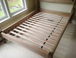 Support Bed Frame Traditional Bed Frame With Pickled Wood Finish