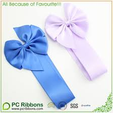pull ribbon hot sale custom polyester satin gift packing pull ribbon bows