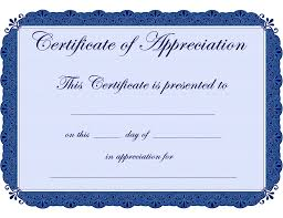 9 best images of free printable certificate of appreciation free